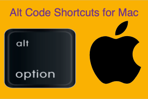 Alt Code Shortcuts for Mac