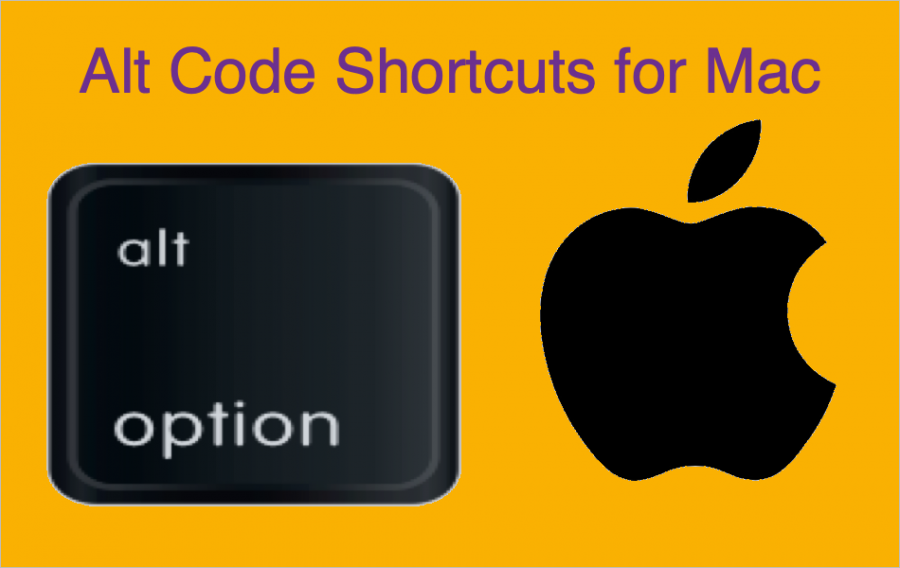 Alt Code Shortcuts for Mac to Insert Symbols