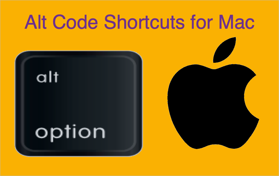 Alt Code Shortcuts for Mac