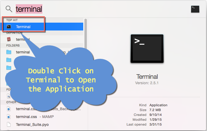 Open Terminal in Mac OS X