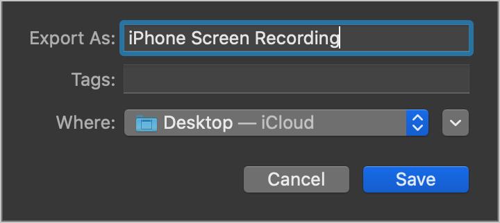Save Screen Recording