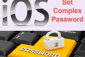 Set Alphanumeric Password in iOS for iPhone and iPad