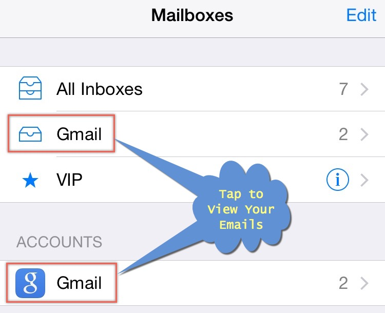 View Email from Mail App