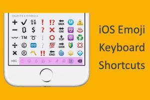 iOS Emoji Keyboard Shortcuts