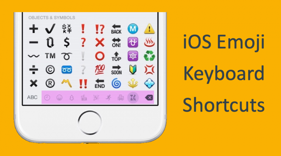 How to Create Keyboard Shortcuts for Emojis in iOS?
