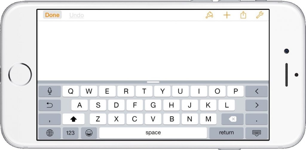 iOS Horizontal Keyboard