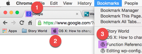 Favicons in Browser