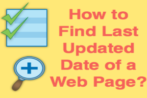 Find Last Updated Date of Web Page