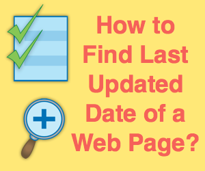 How to Find Last Updated Date of a Web Page?