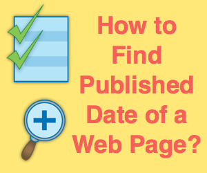 How to Find the Published Date of a Web Page?