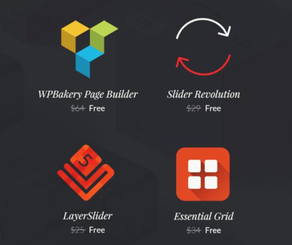 Free Bundled Plugins with Highend Theme