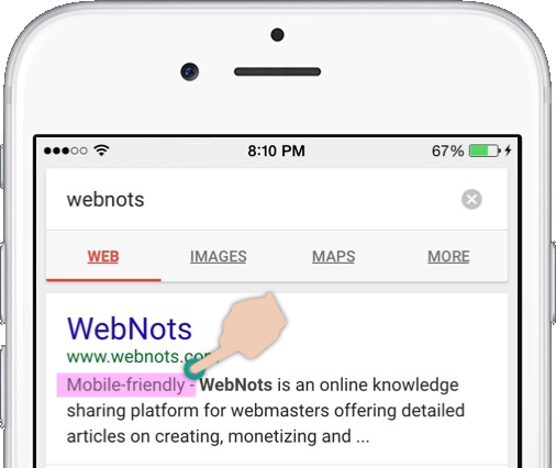 Mobile Friendly Indication in Google Search Results