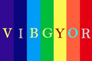 VIBGYOR Rainbow Color Codes