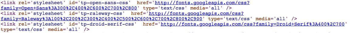 Web Page Calling Google Fonts Through API