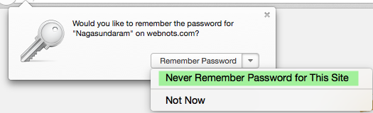 Disabling Remember Password Option for a Site in Firefox