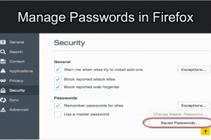 Manage Passwords in Firefox