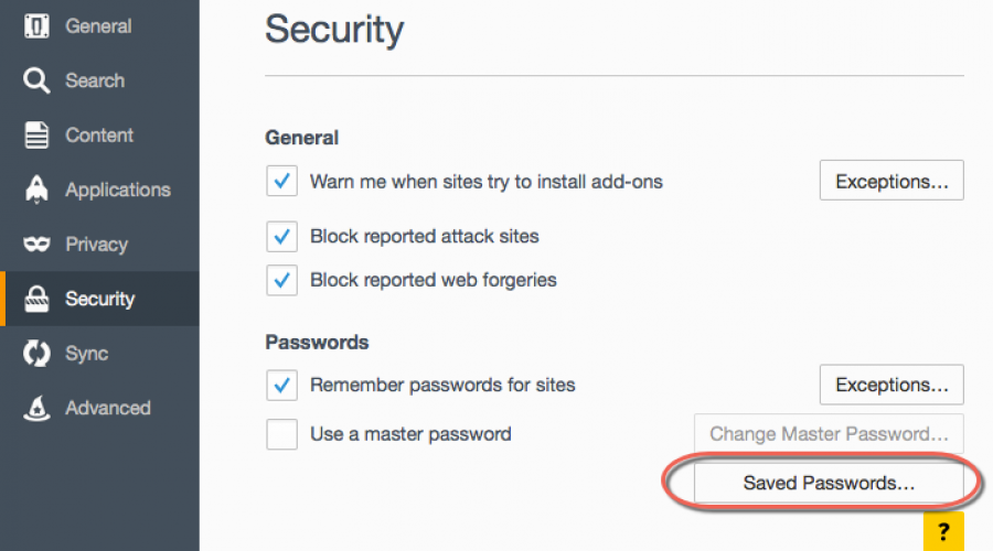 Save, Delete and Manage Passwords in Firefox
