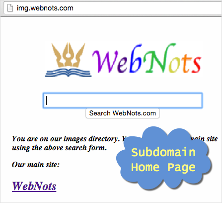 Subdomain Home Page