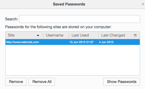 View and Remove Password in Firefox