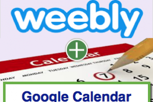 Add Google Calendar in Weebly