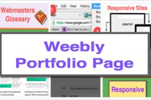 Create Portfolio Website in Weebly