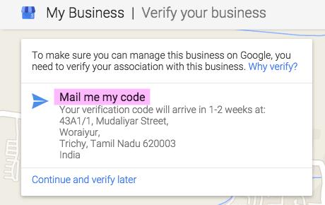 Getting Verification Code