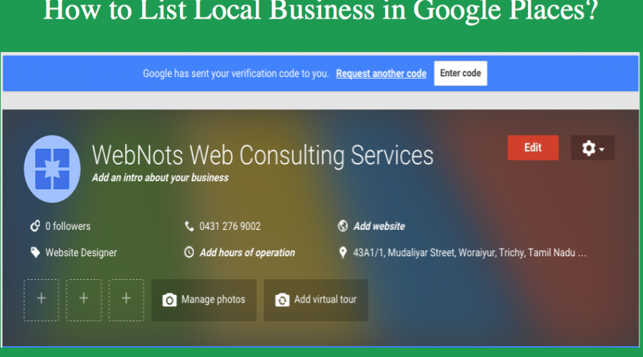 How to List Local Business in Google Places?