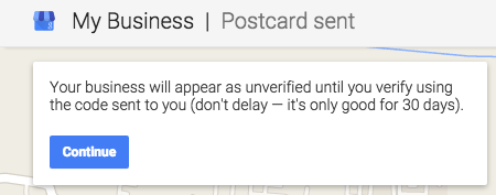 Confirmation Message on Verification
