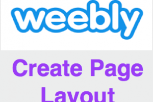 Create Page Layout in Weebly