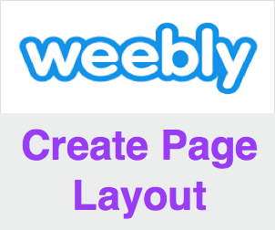 How to Create a New Page Layout in Weebly?
