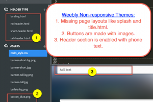 Weebly Non-Responsive Theme Features