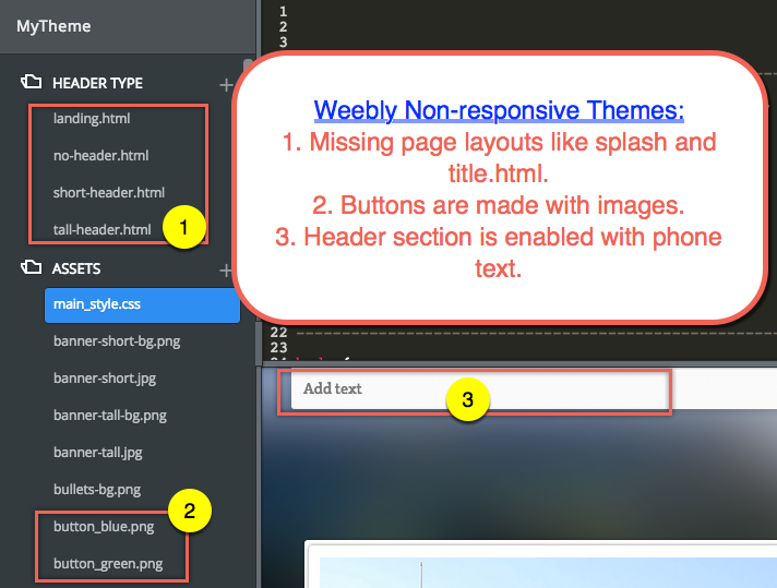 Using Responsive Themes in Weebly