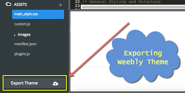 Weebly Theme Export Option