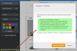 Weebly Theme Import Conditions