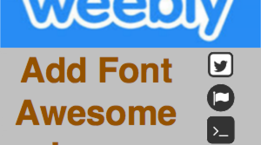 How to Use Font Awesome Icons in Weebly?