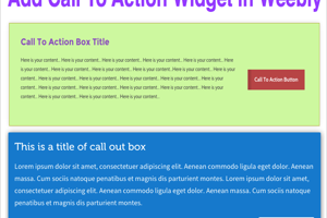Adding Call To Action Button in Weebly