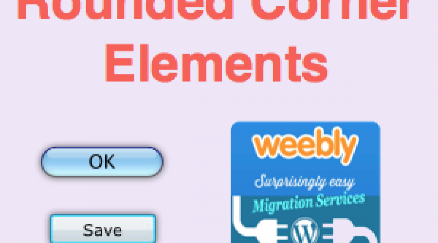 CSS Rounded Corner Elements for Weebly