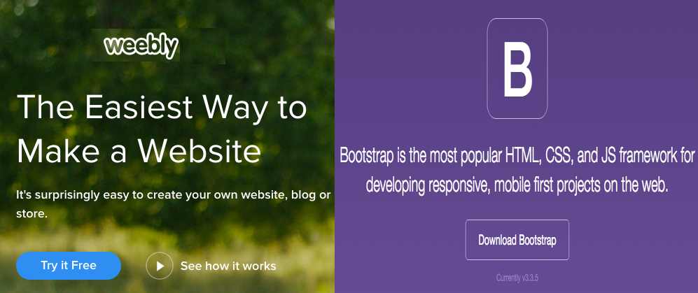 Using Bootstrap in Weebly