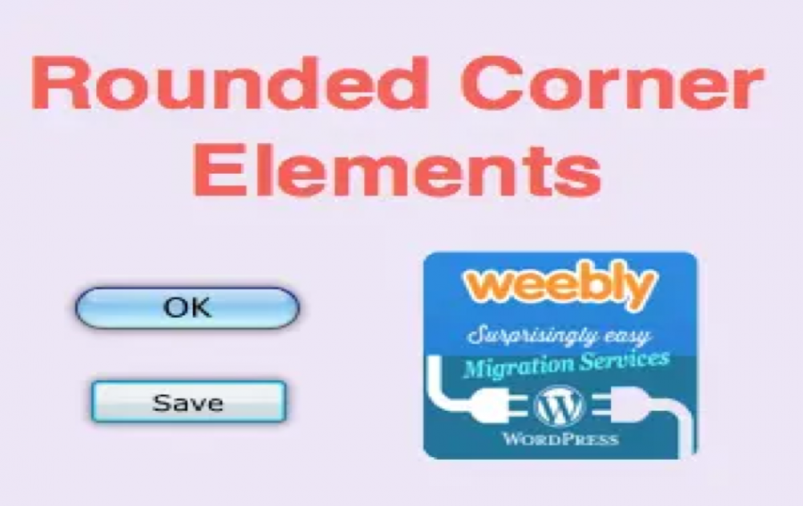 Weebly Rounded Corner Elements