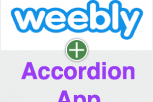 Add Accordion App in Weebly