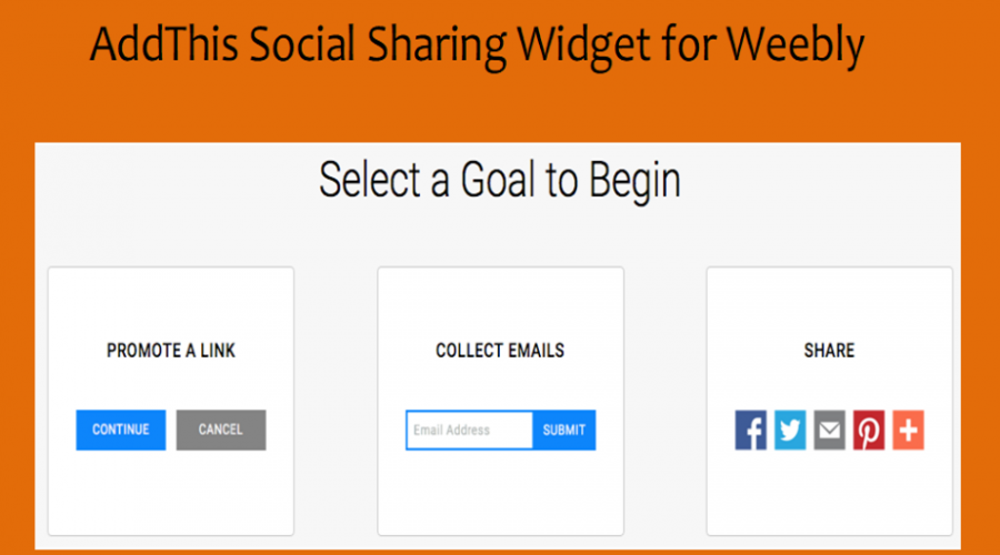 AddThis Social Sharing Widget for Weebly Site