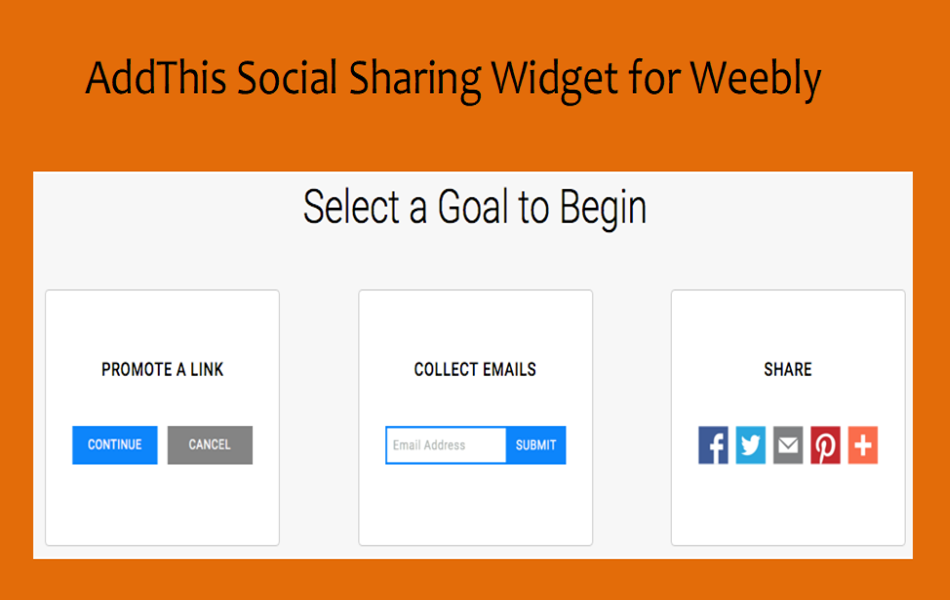 AddThis Social Sharing Widget for Weebly