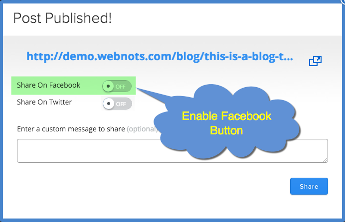 Authorize Weebly App to Connect to Facebook