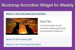 Add Bootstrap Accordion Content Slider in Weebly