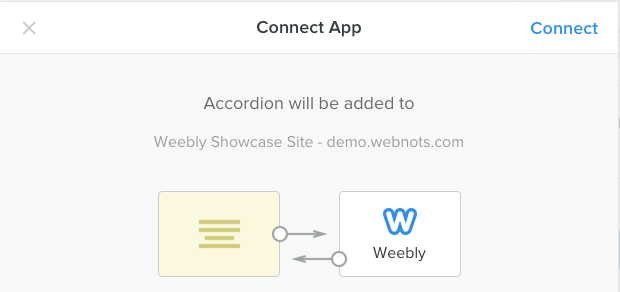 Connecting Accordion App to Weebly Site