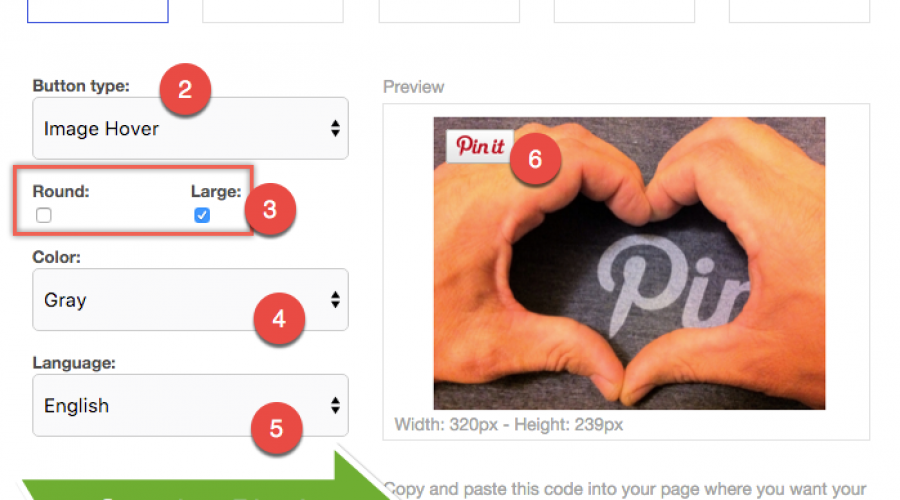 Add Pinterest Pin It Button on Weebly Images
