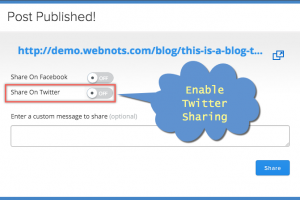 Enable Twitter Sharing