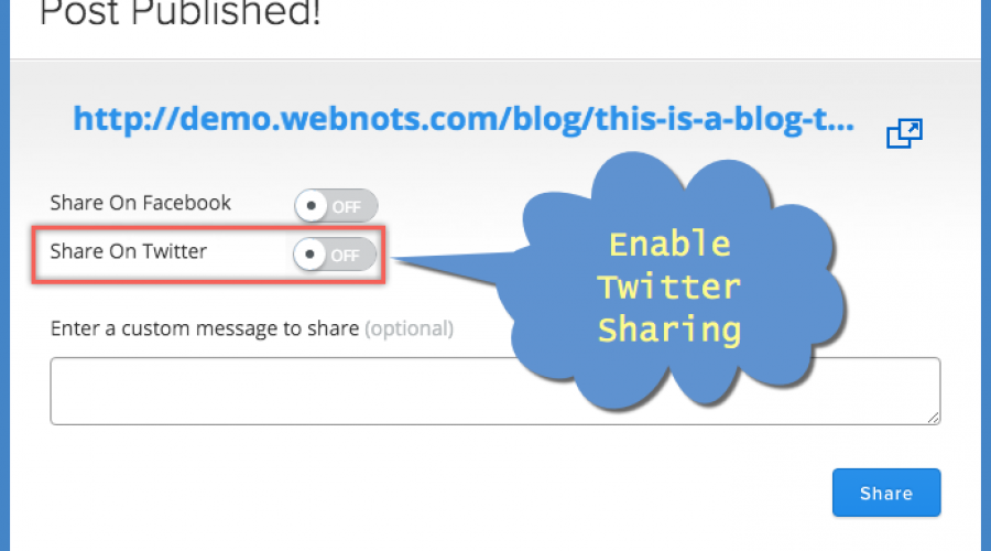 How to Share Weebly Blog Posts on Twitter?
