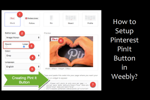 How to Setup Pinterest PinIt Button in Weebly