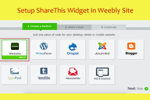 Setup ShareThis Widget in Weebly Site